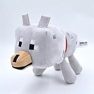 minecraft bébé loup 22cm peluche poupée jouet