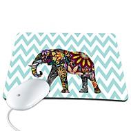 Elonbo Beautiful Chevron and Exotic Elephant PU Leather Anti-slip Mousepad Computer Mouse Pad