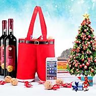noël pantalon forme sac de cadeau de vin