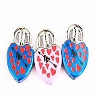 amour créateur verrouiller une flèche à travers un briquets coeur de métal bleu rose