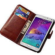 Retro PU Leather Wallet Case for Samsung Galaxy Note 4 N9100