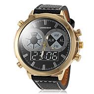 Masculino Relógio Militar Quartz PU Banda Preta / Marrom marca-