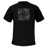 sunet și muzică metru vu spectru activat el Visualizer T-shirt (2 * AAA)