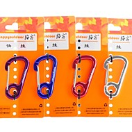 Ear-shaped Carabiner Quick Release Keyring (Random Color)