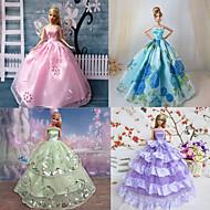 Princesse Robes Pour Poupée Barbie Violet / Bleu Robes