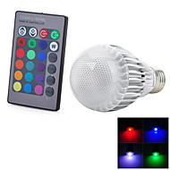 Marsing E26/E27 9 W 1 Integrate LED 300-500 LM Cool White/RGB/Red/Blue/Yellow/Green/Purple/Violet/Orange/Color-Changing Remote-Controlled
