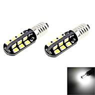 e10 2w 100lm 6000K 24 smd 2835 führte weißes Licht Autolampen (2pcs / DC 12V)