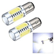 Merdia 1157 7.5W 600LM COB 4SMD LED and 1 Condenser Lens White Light Reversing Lamp / Brake  Light (12V / Pair)