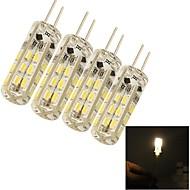 youoklight® 4pcs g4 1.5W 24 * SMD3014 80lm caldi / lampadine lampada di cristallo luce mais bianco freddo (DC12V)