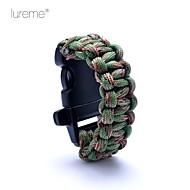 lureme® paracord camouflage sopravvivenza cavo fischio per i bambini braccialetto