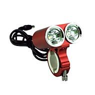vermelho bicicleta com luz do farol lanterna esporte profissional cavaleiro das trevas K2E 2 liderada pelos EUA cree xml-t6 2400lm