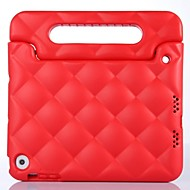 Check Pattern Shockproof Kids EVA Foam Handle Cover with Stand for iPad mini1/2/3.(Assorted Color)