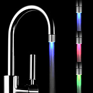 Colorful  Brass Kitchen Sink LED Faucet Tap Nozzle