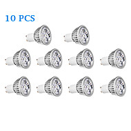 10 pcs GU10 4 W 4 300 LM Warm White / Cool White Spot Lights AC 220-240 V
