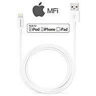 MFI sertifisert lyn 8-pins datasynkronisering og lader usb-kabel for iphone6 ​​6plus 5s 5c 5 ipad ipod kabel (100cm)