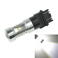 3157  P27 W2.5X16Q  30W 6xCREE Cold White 2100LM 6500K for Car Turn Signal Light (AC/DC12V-24)