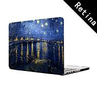 """Noche estrellada de Vincent van Gogh diseño de cuerpo completo caja de plástico de protección para 13 """"/ 15"""", MacBook Pro con pantalla de retina"""
