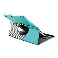 Fashion Rotated Wave Grain PU Protect Holster with Stand  for iPad 2/3/4