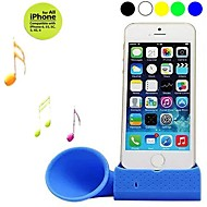 Wireless Rubber Horn Audio Amplifier Loudspeaker Dock for iPhone 6/5/5S/4/4S (Assorted Colors)