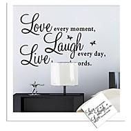 стикеры стены наклейки для стен, живая любовь английских слов&цитирует наклейки стены PVC