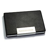 Personalized Black Metal  Card Case