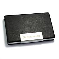 Cadou personalizat - Port Carduri - Aluminiu / PU Piele - Negru