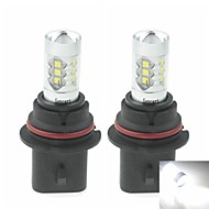 2 x 9007  HB5 PX29T 80W 16xCREE Cold White 4500LM 6500K for Car Fog Light (AC/DC12V-24)