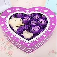 Valentijnsdag geschenk romantische 20st liefde rozen zeep bloemen met een beer