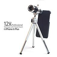 "5.5 ""12x matkapuhelin teleobjektiivi kolmijalka iPhone 6 plus"