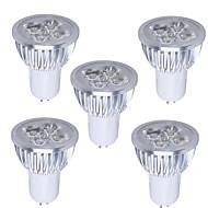 GU5.3 - 5 W- Par - Spotlights/PAR-pærer (Warm White , Mulighet for demping) 350-400 lm- AC 110-130 V- 5 stk