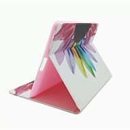 Colorful Flowers Pattern PU Leather Case with Stand and Card Slot for iPad 2/3/4