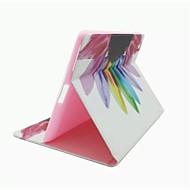 värikkäitä kukkia kuvio pu nahkakotelo jalustan ja korttipaikka iPad 2/3/4