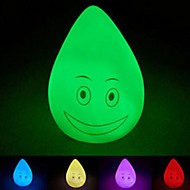 Colorful Cute Waterdrop Shape Changing Colors LED Night Light(Random Color)