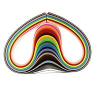 120pcs 3mmx53cm quilling papir (24 farve X5 stk / farve) DIY kunsthåndværk dekoration