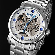Men's Watch Automatic self-winding Skeleton Watch Hollow Engraving Stainless Steel Band