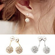Double Ball Diamond Earrings