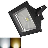 jiawen® svart IP65 vanntett 20w 1800lm 3000-3200k / 6000-6500k varm hvit lys / hvit lys LED flom lampe (DC 12V)