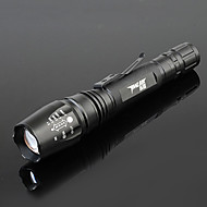 TanLu TL-X5 Rechargeable 5-Mode 1x Cree L2 Zoom LED Flashlight(800-1000LM, 2x18650, Black)