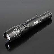 LED손전등 LED 5 모드 800-1000 루멘 조절가능한 초점 / 방수 / 충전식 / 줌이 가능한 기타 18650 캠핑/등산/동굴탐험 / 일상용 / 사이클링 / 여행 / 드라이빙 / 일 / 등산 / 야외 - TanLu , 블랙 알루미늄 합금