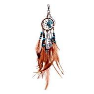 lureme® cristal tophus de mode traverser dreamcatcher porte-clés en alliage de perles plumes