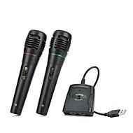 5-in-1 verdrahtet Karaoke-Mikrofon für ps3 / ps2 / pc eingestellt / Wii / Xbox 360 (schwarz, 2 Stück)