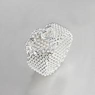 バンドリング クリスタル 純銀製 タッセル ファッション シルバー ジュエリー 結婚式 パーティー 日常 カジュアル 1個
