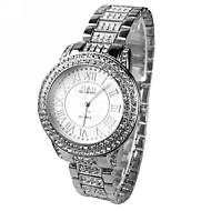 Women's Set auger Round Dial  Steel Band Quartz Wrist Watch Cool Watches Unique Watches