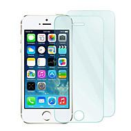 2pack 0,33 millimetri di vetro temperato protezione dello schermo con panno in microfibra per iPhone 5 / 5s / 5c