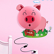 Huayan® Cartoon Pink Pig 3D Wallpaper 25W LED Wall Lamp 220V