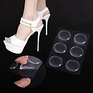 6PCS Transparent Non-slip Silicone Material  High Heel Shoes Insole for Forefoot Protection