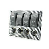 panel de interruptores de transferencia de agua 4 pandilla rockero embarcación marina impermeable llevó interruptor indicador de luz