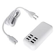100-240V เราแถบพลังงานกับ 5v 4a 20w 6 USB พอร์ตอะแดปเตอร์ (ความยาว: 150 ซม)