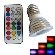 1 stk. SchöneColors E14/GU10/B22/E26/E27 4 W 1PCS Højeffekts-LED 500 LM Farveskiftende/RGB B Justérbar lysstyrke/Fjernstyret/Dekorativ