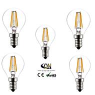 5개 ONDENN E14 4 COB 400 LM 따뜻한 화이트 G45 edison 빈티지 LED필라멘트 전구 AC 220-240 V